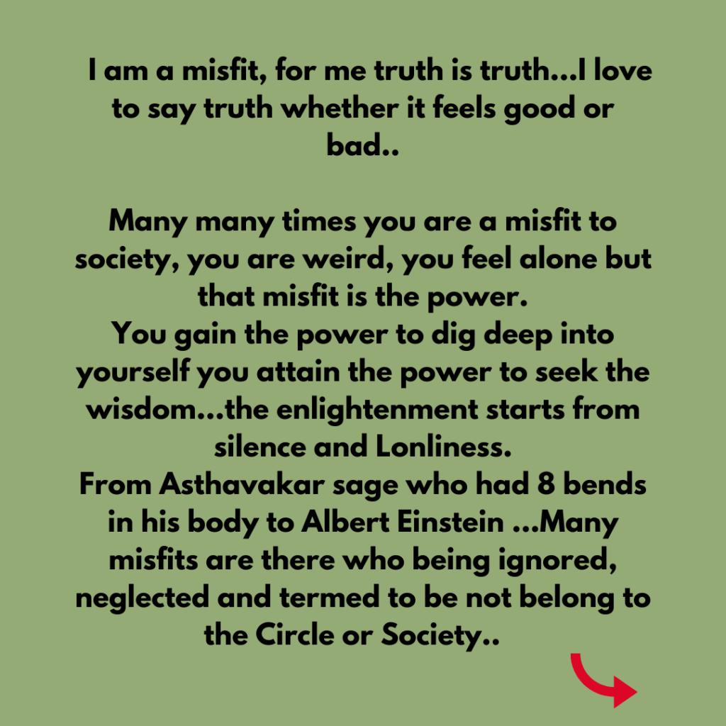 Are you a misfit? manjit sargam chawla